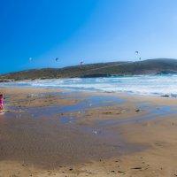 о. Родос. Песчаная коса Прасониси разделяет Эгейское и Средиземное моря. :: Олег Oleg