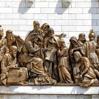 """Горельеф. """"Давид в собрании вельмож передаёт Соломону чертежи храма."""" :: Анатолий. Chesnavik."""
