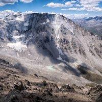вид на пик Карнизный (4076 м) и одноименное моренное озеро :: Владимир Амангалиев