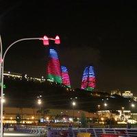 Пламенные башни «Flame Towers» города Баку :: Алла ZALLA