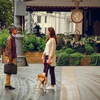 Двое и собака :: Андрей Бондаренко