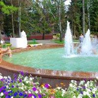 Спасаясь от жары в фонтане.. :: Андрей Заломленков