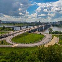 Город Кемерово, вид на Кузнецкий мост :: Владимир Деньгуб