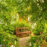 Скамейка в саду :: Марина Кириллова