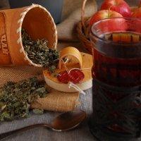 """Эскиз к натюрморту """"Гостинец, или Таежный чай"""" :: Арина Дмитриева"""