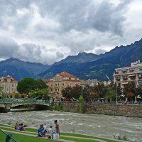 Мерано-набережная реки Пассирио :: Galina Dzubina