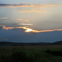 Закат у реки :: Ирина Румянцева