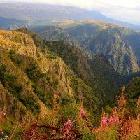 В горах Приэльбрусья. Вид на Западный Канжол и урочище Мушт. :: Vladimir 070549