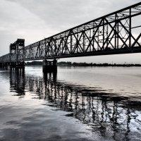 Железнодорожный (Северодвинский) мост в Архангельске. :: Алена Малыгина
