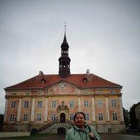 Автопортрет на фоне эстонской ратуши в городе Нарва. :: Светлана Калмыкова
