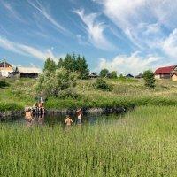 На реке Ёмбе... деревня Сафоновская... июль месяц... :: Федор Кованский