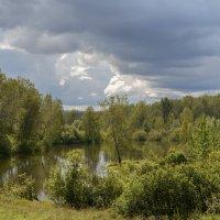 Тучи над озером встали... :: Александр Гурьянов