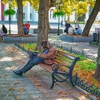 Осень на Приморском бульваре... :: Вахтанг Хантадзе