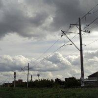Бурлящее небо над городом моим. :: Ольга Кривых