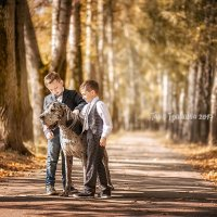 Братья и большая собачка :: Таня Тришина