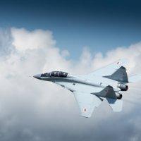 Над облаками МиГ 29М2 демонстратор МиГ 35 :: Дмитрий Бубер