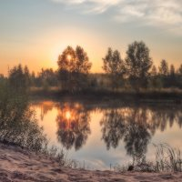 Утро у пруда :: Сергей Цветков