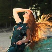Девушка на закате :: Маргарита Черкасова