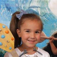 девочка с веслом из мультика Моана :: Екатерина Гриб