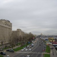 Вид на Фрунзенскую набережную с Андреевского моста :: Анна Воробьева