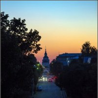 Закат, город Руза. :: Сергей Ключарёв
