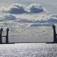 Опоры моста в устье Невы. :: Виктор Егорович