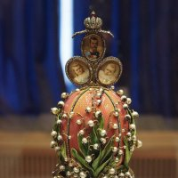 Экспонат Синей гостиной. Пасхальное яйцо «Ландыши» :: Елена Павлова (Смолова)