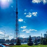 Питер телебашня и Кантемировский мост вид с Выборгской набережной :: Юрий Плеханов