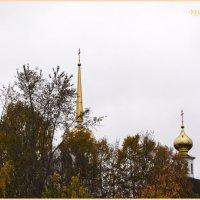 Золотые купола в золотую осень. Онега. Россия. :: Марина Никулина