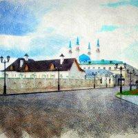 Летом в Казанском кремле.... :: Андрей Головкин