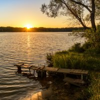 Рузское водохранилище на закате :: Наталия Горюнова