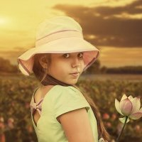 девочка с лотосом :: Наталья Владимировна Сидорова