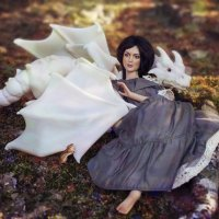Лесная ведьма и ее белоснежный друг :: Алиса Колмагорова