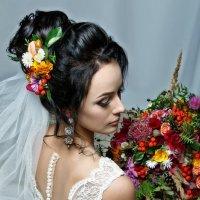 Алина-портрет невесты с букетом :: Вячеслав Шах-Гусейнов