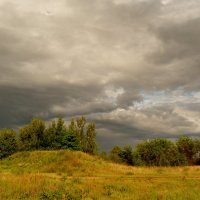 луг в перемену погоды :: Александр Прокудин
