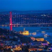 Вечерний Ортакёй и Босфорский мост в Стамбуле :: Ирина Лепнёва