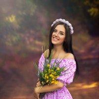 Девушка с букетом :: Дина Агеева