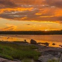 Белое море - закат :: Владимир Брагилевский