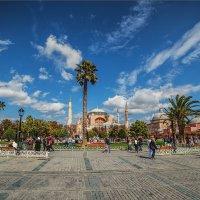Площадь Султанахмет с видом на Айя София :: Ирина Лепнёва