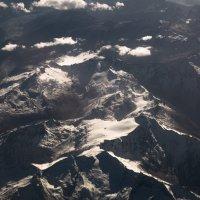горы швейцарии из окна самолета 3 :: Андрей Бондаренко