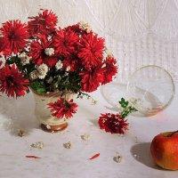 Красные хризантемы :: Павлова Татьяна Павлова