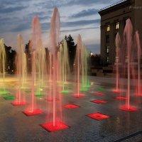 Алма-Ата, сухие фонтаны на площади Астана. :: Anna Gornostayeva