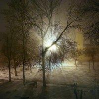 Ночь, улица, фонарь..Закончился октябрь.. :: Андрей Заломленков