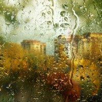 Вид из окна. Пришла унылая пора...но солнца луч ещё теплится... :: Елена Строганова