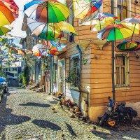 Позитивная стамбульская улочка с зонтами и курятником :: Ирина Лепнёва