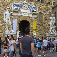 Статуи Давида и Геркулес, победивший Какуса :: leo yagonen