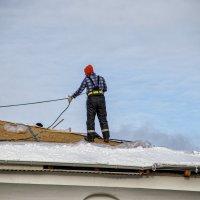Пришла зима - пора крыть крышу ! :: Анатолий. Chesnavik.