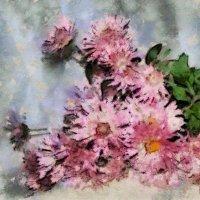 Снова встают от земли, тускнея во мгле, хризантемы, прибитые сильным дождём... :: Tatiana Markova