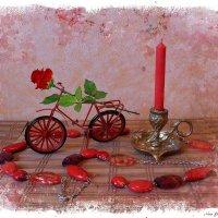Велосипед и роза...и красная свеча... :: Nina Yudicheva