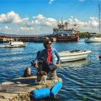 Девушка и кошка :: Ирина Лепнёва